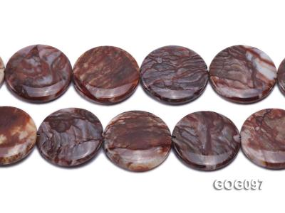 Wholesale 35mm Disc-shaped Gemstone String GOG097 Image 2