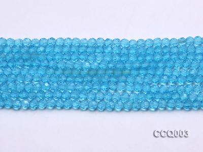 Wholesale 4mm Round Blue Faceted Simulated Crystal Beads String CCQ003 Image 2