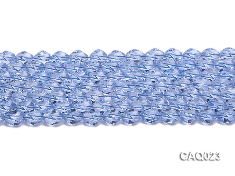 Wholesale 7x10mm Oval Faceted Simulated Aquamarine Beads String big Image 2