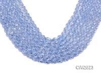 Wholesale 7x10mm Oval Faceted Simulated Aquamarine Beads String CAQ023
