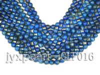 wholesale 8mm nature blue round quality lapis-lazuli strings  GLP016