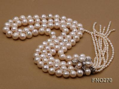 7-9mm white round freshwater pearl necklace FNO270 Image 4