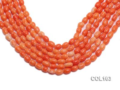 Wholesale 6-8mm Rice-shaped Pink Coral Beads Loose String COL163 Image 1