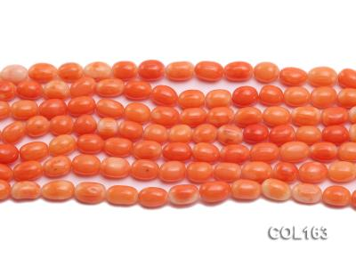 Wholesale 6-8mm Rice-shaped Pink Coral Beads Loose String COL163 Image 2