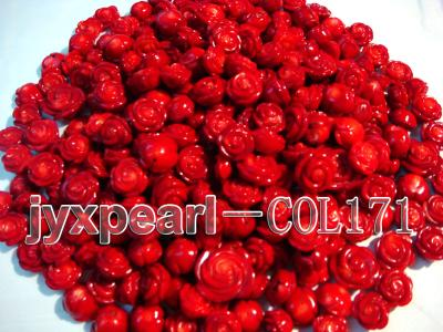 Wholesale 17-18.5mm Flower-shaped Red Loose Coral Beads COL171 Image 1