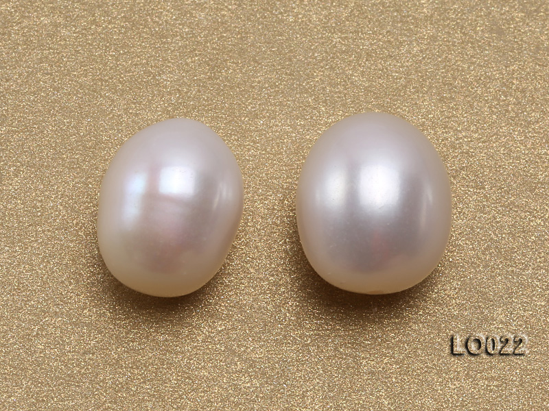 Wholesale 10x15mm Classic White Drop-shaped Loose Freshwater Pearls big Image 2
