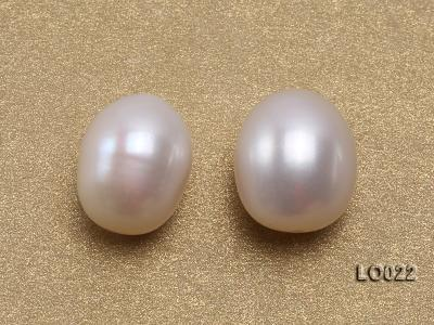 Wholesale 10x15mm Classic White Drop-shaped Loose Freshwater Pearls LO022 Image 2