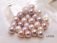 Wholesale 14X15mm Classic Pink/Lavender Oval Loose Freshwater Pearls LO026