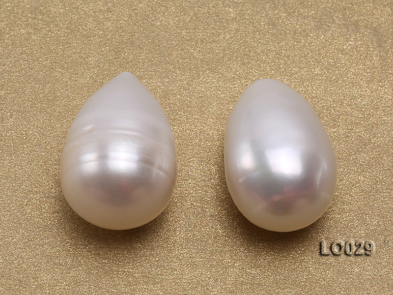 Wholesale Super-size 14x18mm Classic White Drop-shaped Loose Freshwater Pearls big Image 2