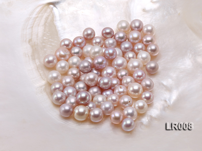 7.5-8.5mm Natural Lavender Round Freshwater Loose Pearl  big Image 1