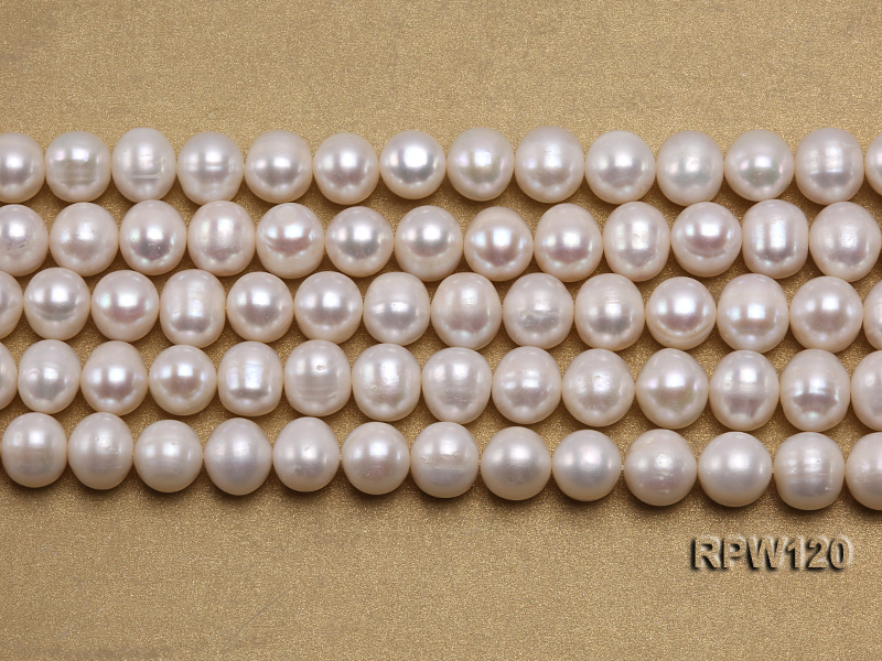 Wholesale 9-10mm Classic White Round Freshwater Pearl String big Image 2