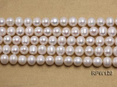Wholesale 9-10mm Classic White Round Freshwater Pearl String RPW120 Image 2
