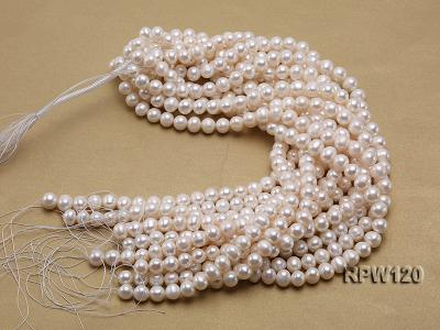 Wholesale 9-10mm Classic White Round Freshwater Pearl String RPW120 Image 3