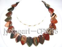20x30mm Multicolor Pear-Shaped Agate Disk Necklace CFN205