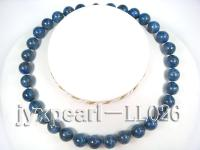 12mm deep blue round Lapis-lazulis Necklace LL026