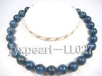 14mm deep blue round Lapis-lazulis Necklace LL027