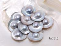 Wholesale 30mm Grey Dome-shaped Loose Mabe Pearl  MC012