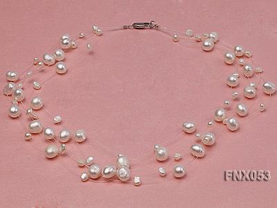 8-10mm White Cultured Freshwater Pearl Galaxy Necklace FNX053 Image 2