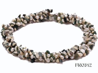 8-9mm multicolor flat freshwater pearl and broken shell necklace FNO312 Image 2