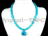 8-12mm blue several shapes turquoise necklace TQN042