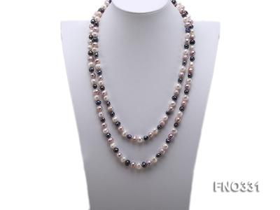 8-9mm multicolor round freshwater pearl necklace FNO331 Image 1
