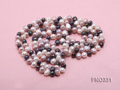 8-9mm multicolor round freshwater pearl necklace FNO331 Image 4