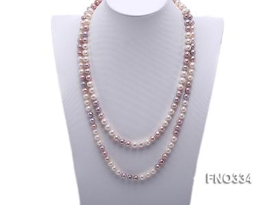 8-9mm multicolor baroque freshwater pearl necklace FNO334 Image 1
