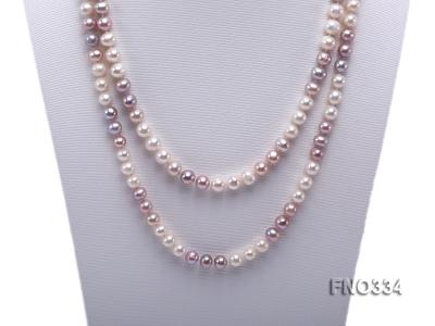 8-9mm multicolor baroque freshwater pearl necklace FNO334 Image 2