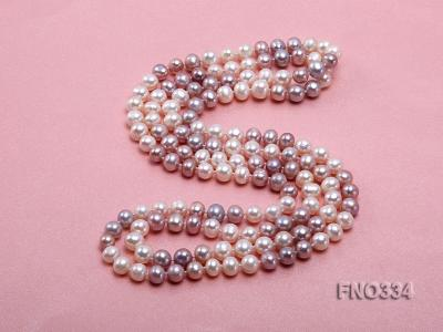 8-9mm multicolor baroque freshwater pearl necklace FNO334 Image 4