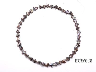 Wholesale 9x17mm Black Cross-shaped Cultured Freshwater Pearl String BCW090 Image 3