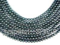 5.5mm Black Round Seawater Pearl String SPW019