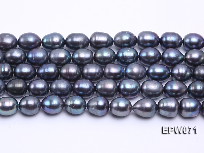 Wholesale 12x14mm Peacock Rice-shaped Freshwater Pearl String big Image 1