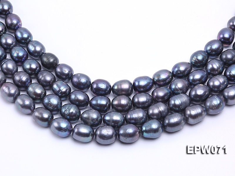 Wholesale 12x14mm Peacock Rice-shaped Freshwater Pearl String big Image 2