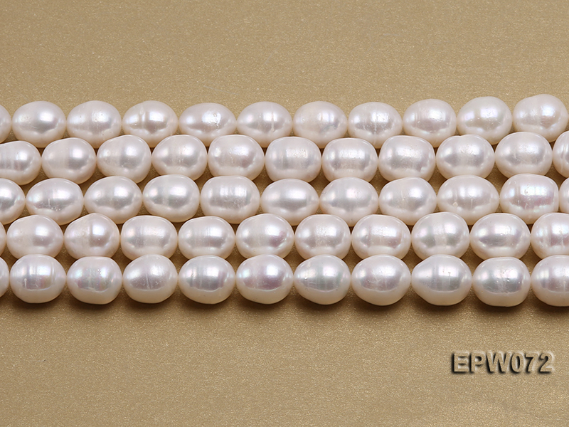 Wholesale 10x12.5mm Classic White Rice-shaped Freshwater Pearl String big Image 1