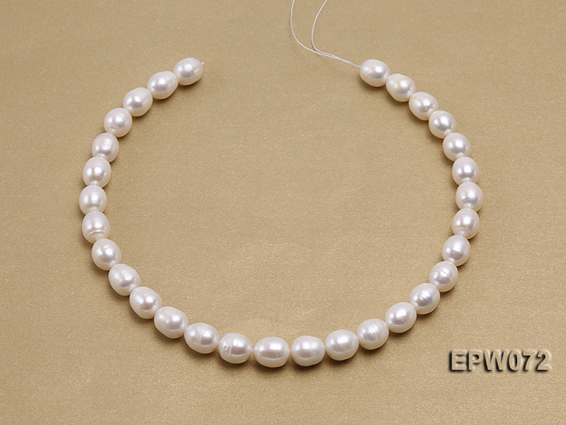 Wholesale 10x12.5mm Classic White Rice-shaped Freshwater Pearl String big Image 3