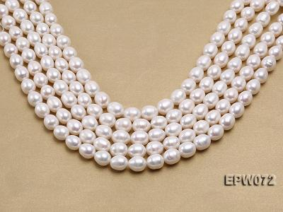 Wholesale 10x12.5mm Classic White Rice-shaped Freshwater Pearl String EPW072 Image 2