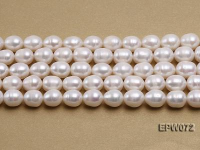 Wholesale 10x12.5mm Classic White Rice-shaped Freshwater Pearl String EPW072 Image 1