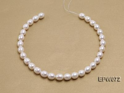 Wholesale 10x12.5mm Classic White Rice-shaped Freshwater Pearl String EPW072 Image 3