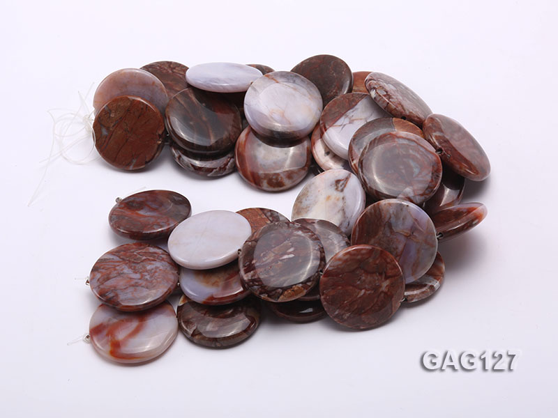 wholesale 35mm round agate pieces strings big Image 3