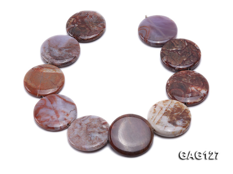 wholesale 35mm round agate pieces strings big Image 4