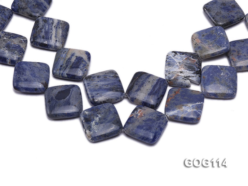 Wholesale 25mm Square Gemstone String big Image 1