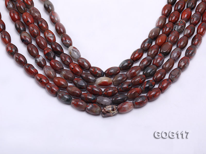 Wholesale 8x12mm Oval Gemstone String big Image 1