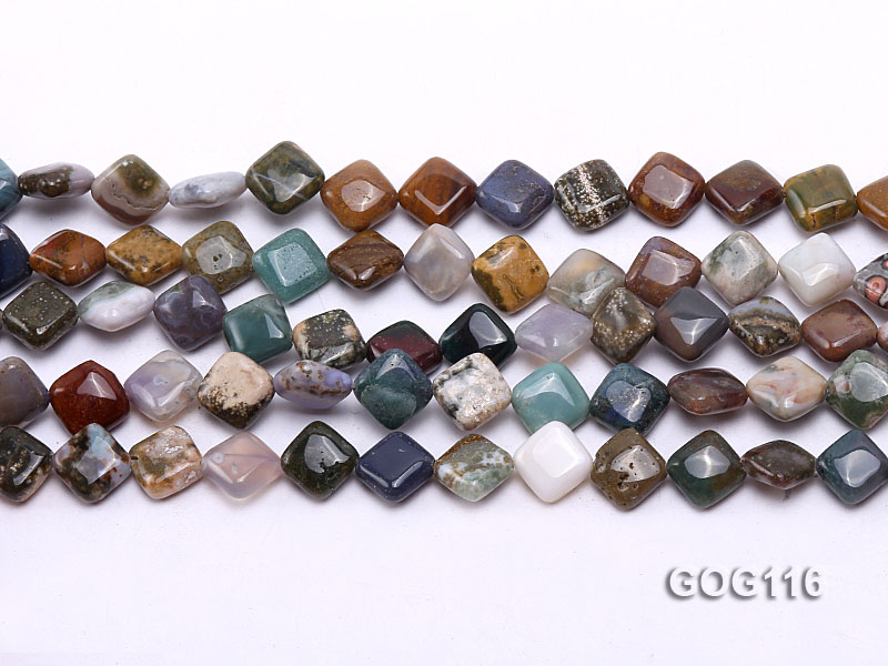 Wholesale 8mm Colorful Square Gemstone String big Image 1