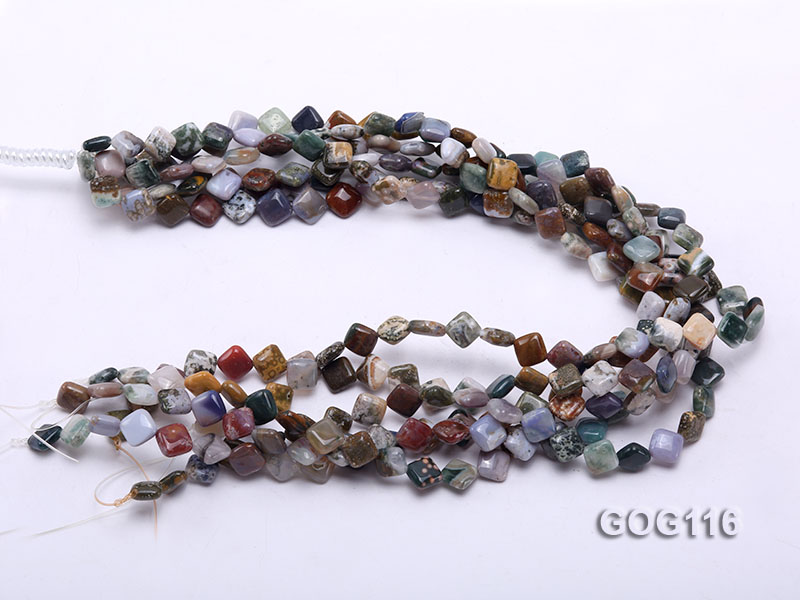 Wholesale 8mm Colorful Square Gemstone String big Image 2
