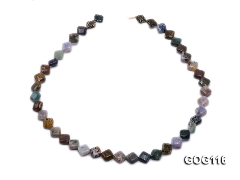Wholesale 8mm Colorful Square Gemstone String big Image 4