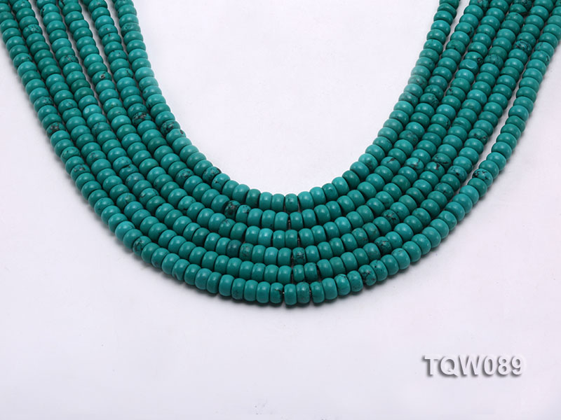 Wholesale 4x6mm Blue Turquoise Beads String big Image 1