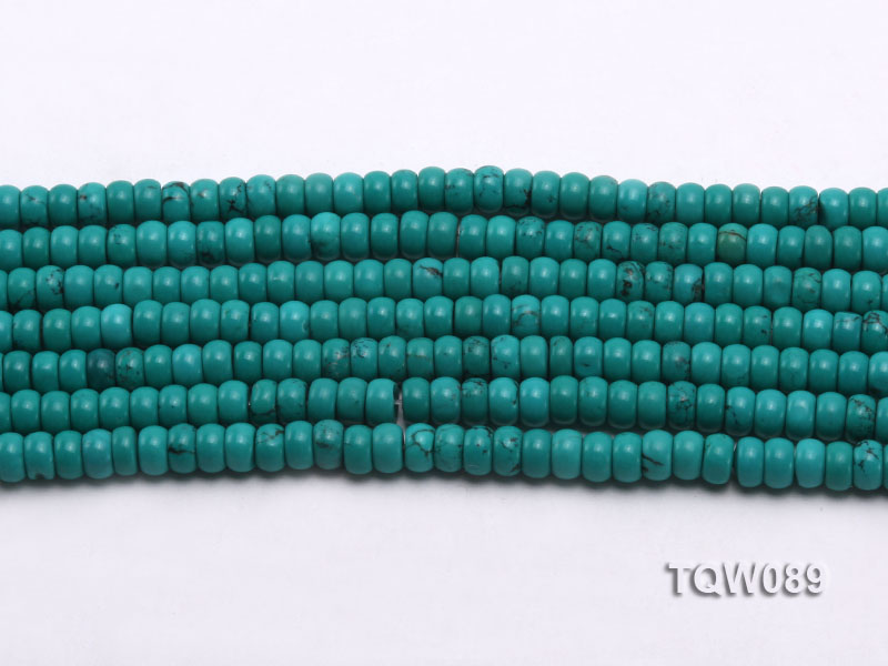 Wholesale 4x6mm Blue Turquoise Beads String big Image 2