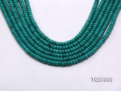 Wholesale 4x6mm Blue Turquoise Beads String TQW089 Image 1