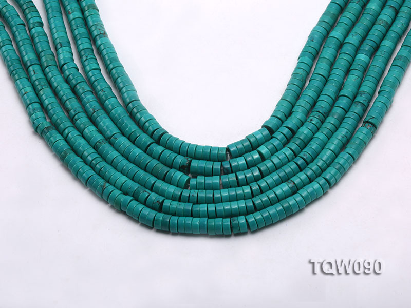 Wholesale 3x6.5mm Blue Turquoise Beads String big Image 1