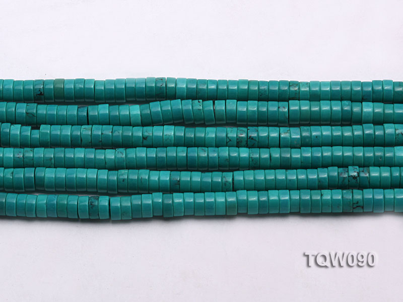 Wholesale 3x6.5mm Blue Turquoise Beads String big Image 2